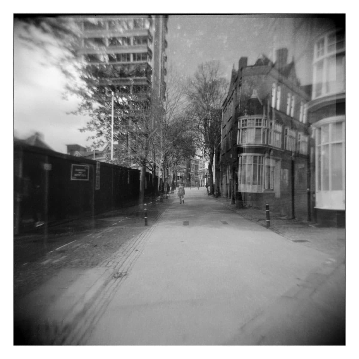 Featured project: The Ghost of New Walk Centre aka double exposures on ILFORD FP4 PLUS - by Barnaby Nutt.